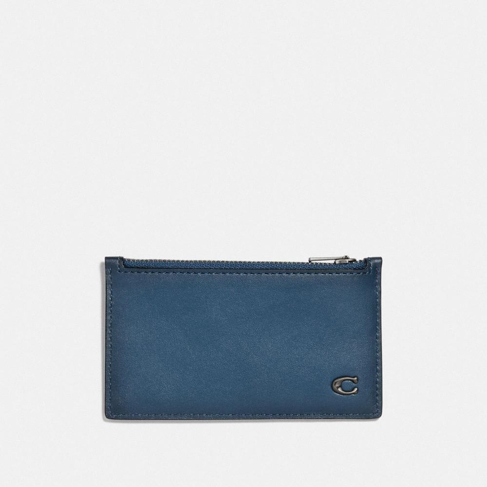 Coach Zip Card Case With Signature Hardware