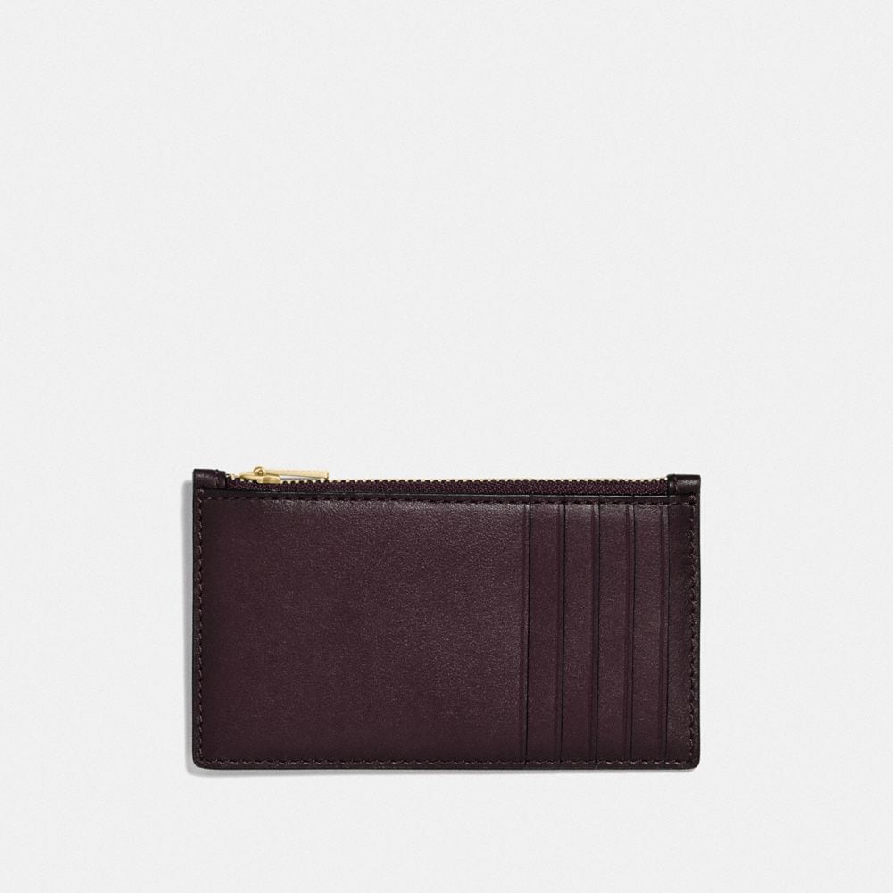 Coach Zip Card Case With Signature Hardware Alternate View 1
