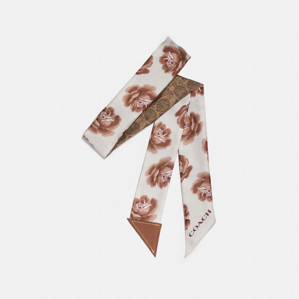 rose skinny scarf