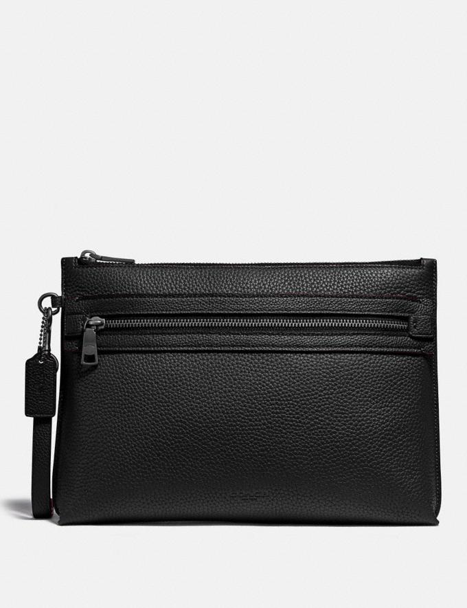 Coach Academy Pouch Black SALE Men's Sale Accessories