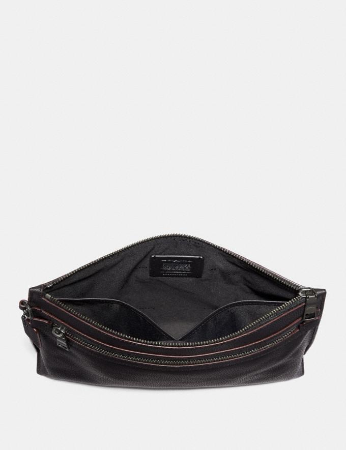 Coach Academy Pouch Black Gifts For Him Under $500 Alternate View 1