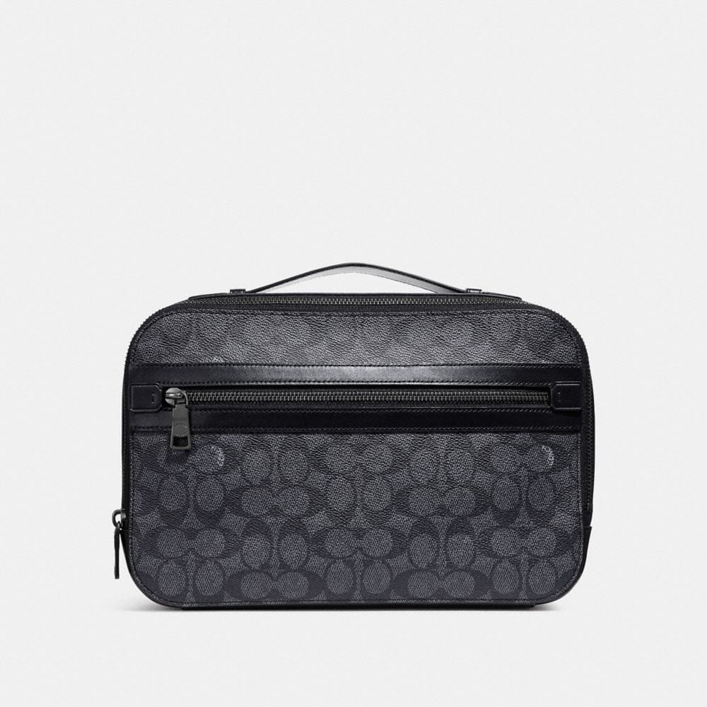 Coach Academy Travel Case in Signature Canvas