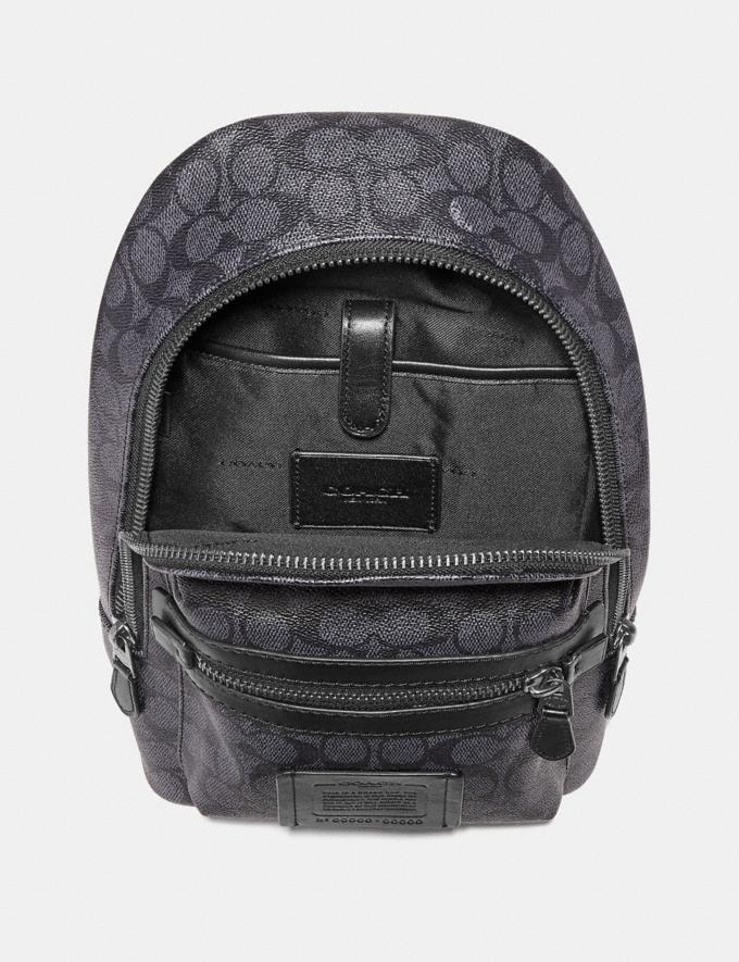 Coach Academy Pack in Signature Canvas Charcoal/Black Antique Nickel Men Bags Backpacks Alternate View 1