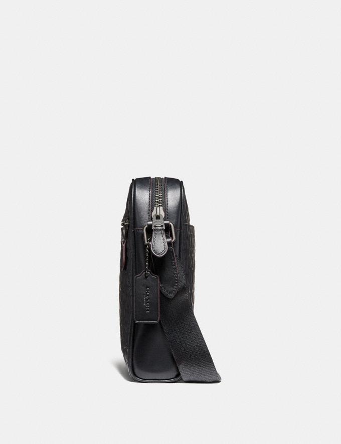 Coach Metropolitan Camera Bag in Signature Leather Midnight Navy/Black Antique Nickel Men Bags Messenger Bags Alternate View 1