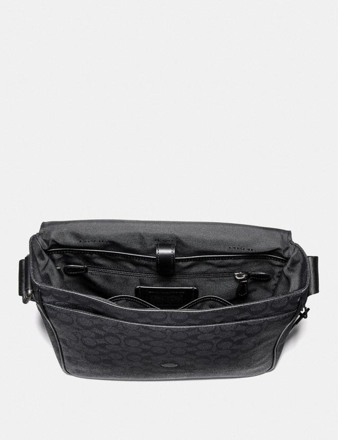 Coach Metropolitan Map Bag in Signature Canvas Charcoal/Black Antique Nickel DEFAULT_CATEGORY Alternate View 2