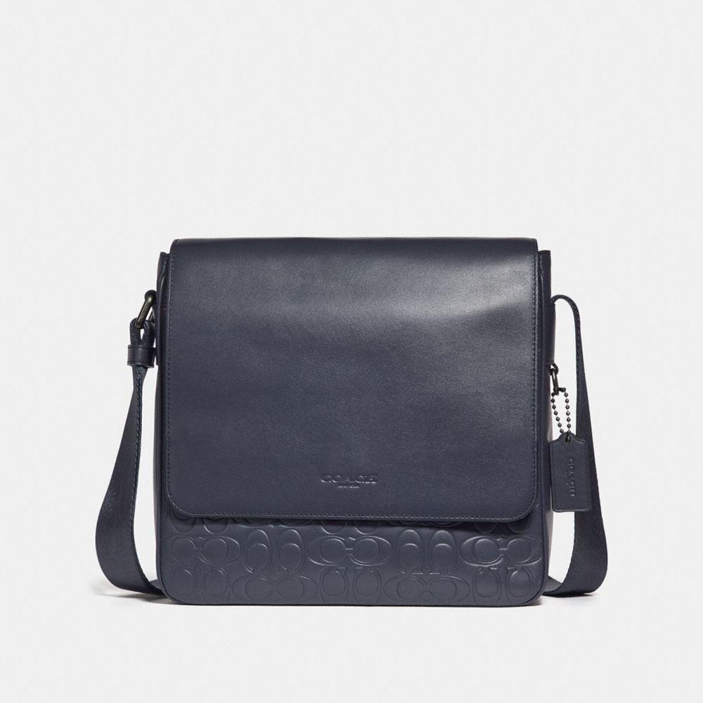 Coach Metropolitan Map Bag in Signature Leather