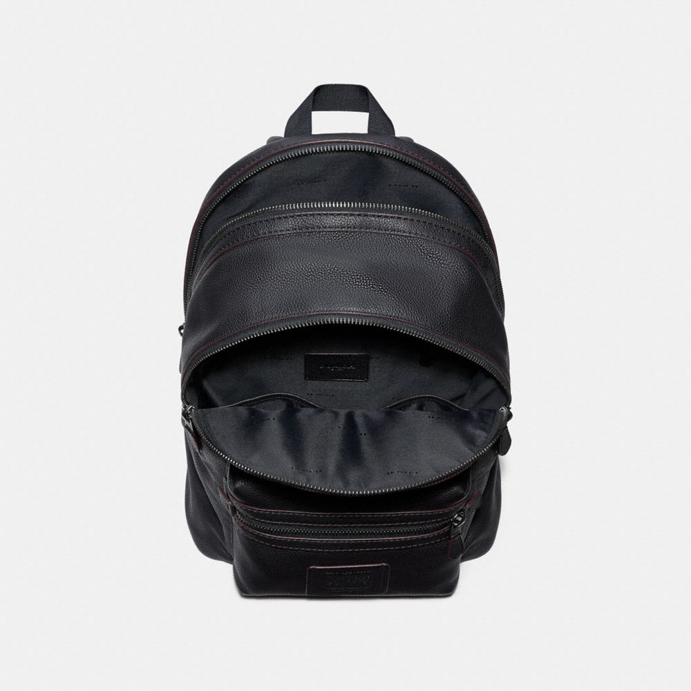 Coach Academy Backpack in Polished Pebble Leather Alternate View 2