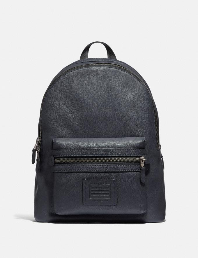 Coach Academy Backpack Midnight Navy/Black Copper Finish SALE Men's Sale