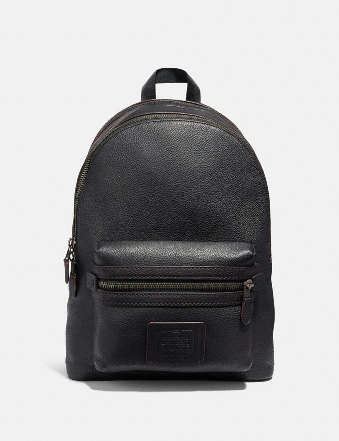 Coach Academy Backpack Black/Black Copper Finish Gifts For Him Bestsellers