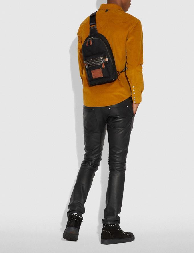 Coach Academy Pack Black/Black Copper Finish Men Bags Alternate View 2