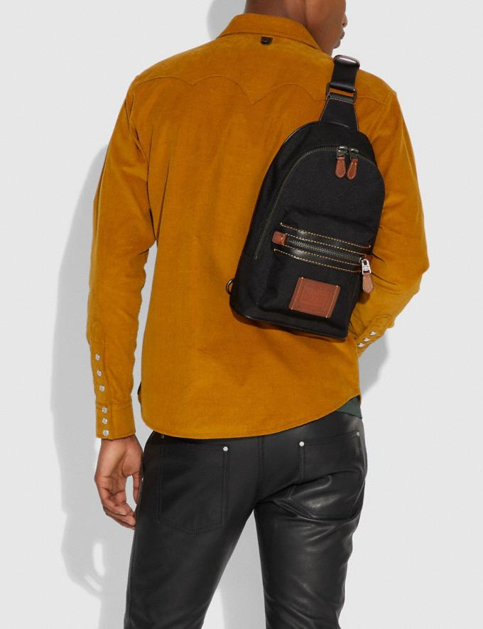 Coach Academy Pack Black/Black Copper Finish Men Bags Alternate View 3
