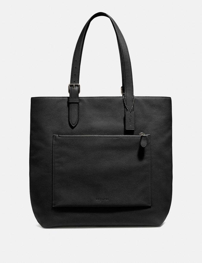Coach Metropolitan Soft Tote Black/Black Antique Nickel SALE Men's Sale