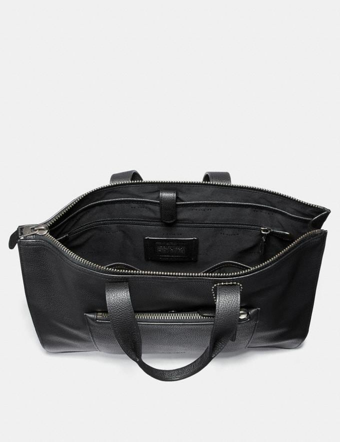 Coach Metropolitan Soft Brief Black/Black Antique Nickel Cyber Monday Men's Cyber Monday Sale Bags Alternate View 2