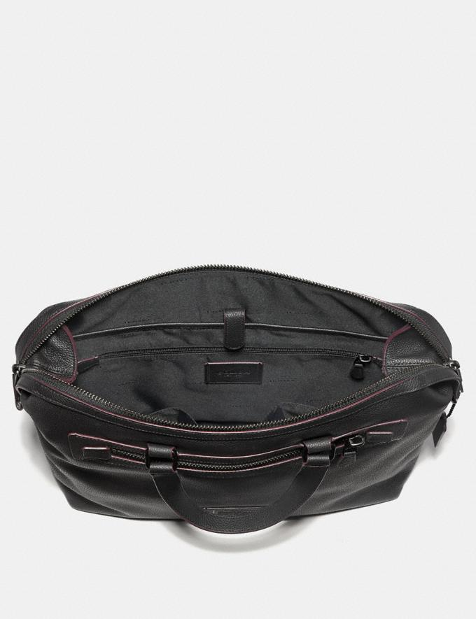 Coach Academy Holdall Midnight Navy/Black Copper Finish Men Bags Briefcases Alternate View 2