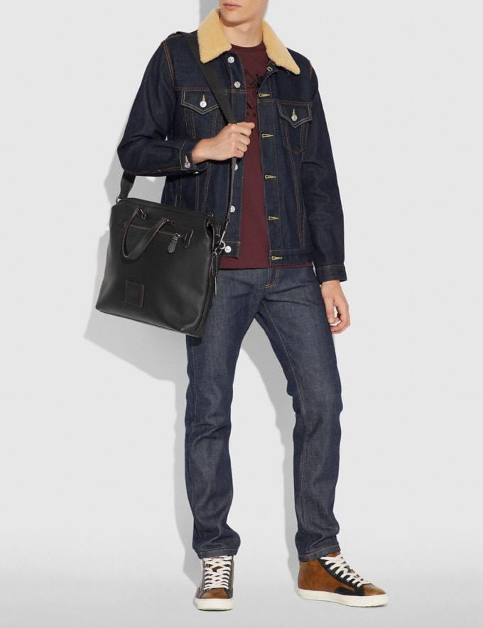 Coach Academy Holdall Midnight Navy/Black Copper Finish Men Bags Briefcases Alternate View 3