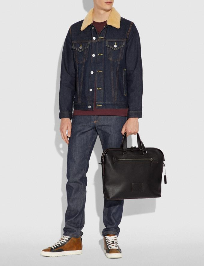 Coach Academy Holdall Midnight Navy/Black Copper Finish Men Bags Briefcases Alternate View 4
