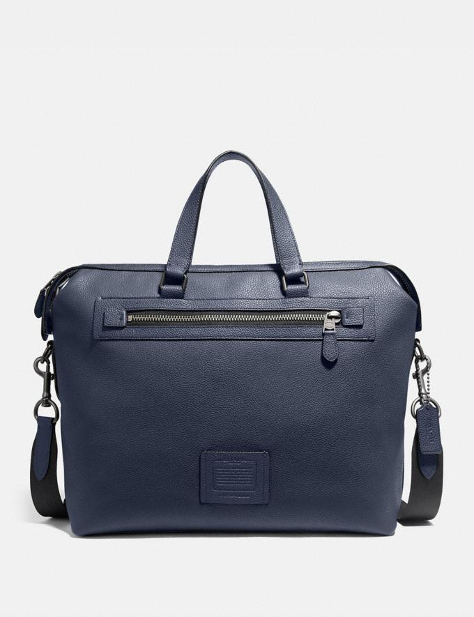 Coach Academy Holdall Midnight Navy/Black Copper Finish Men Bags Briefcases