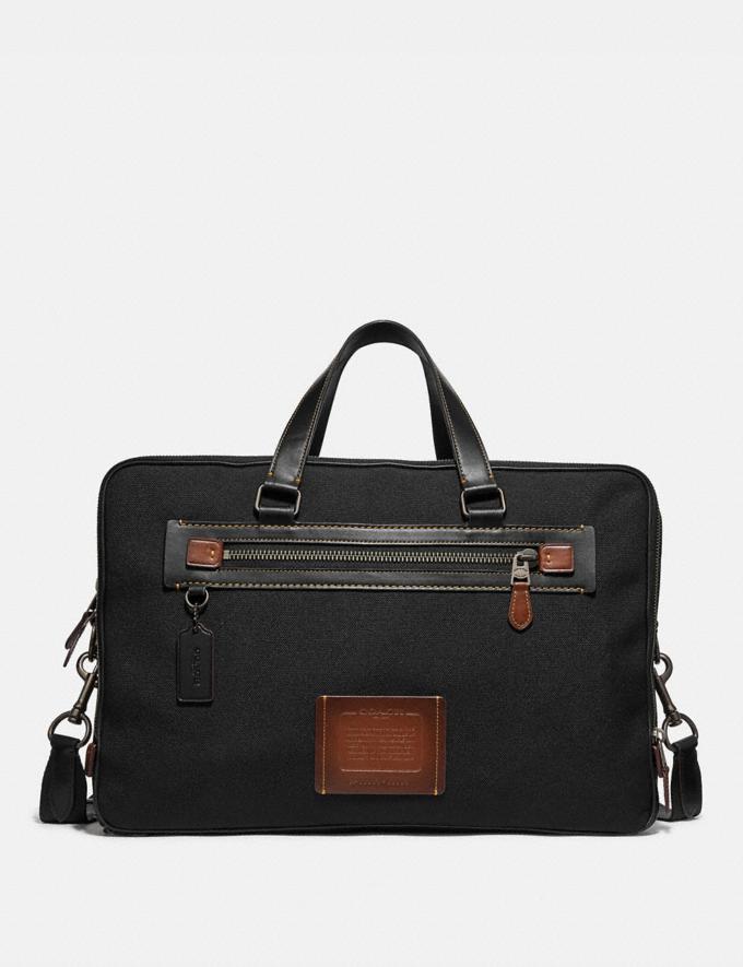Coach Academy Day Bag Black/Black Copper Finish SALE Men's Sale