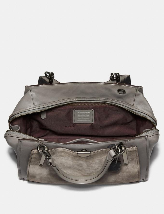 Coach Dreamer 36 Heather Grey/Dark Gunmetal Women Bags Satchels & Carryalls Alternate View 3