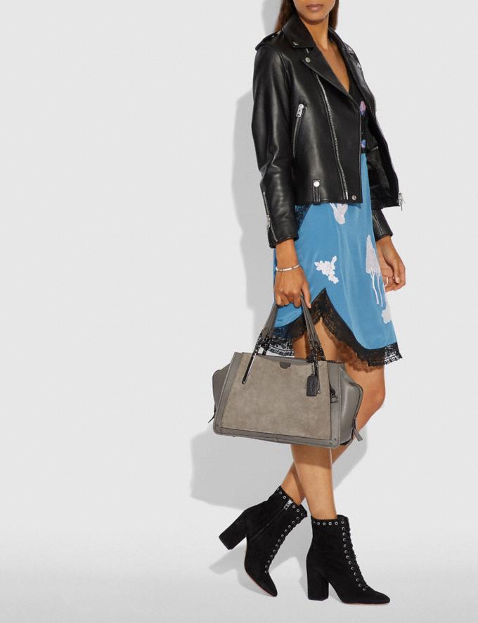 Coach Dreamer 36 Heather Grey/Dark Gunmetal Women Handbags Satchels & Top Handles Alternate View 5
