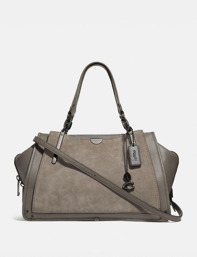 Coach Dreamer 36 Heather Grey/Dark Gunmetal Women Handbags Satchels & Top Handles