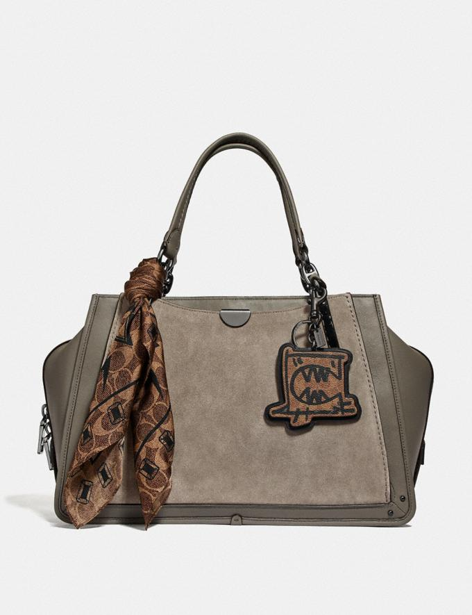 Coach Dreamer 36 Heather Grey/Dark Gunmetal Women Bags Satchels & Carryalls Alternate View 1