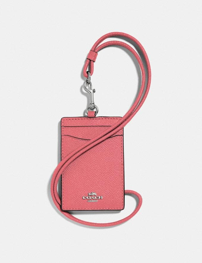 Coach Id Lanyard Bright Coral/Silver 30% off Select Full-Price Styles
