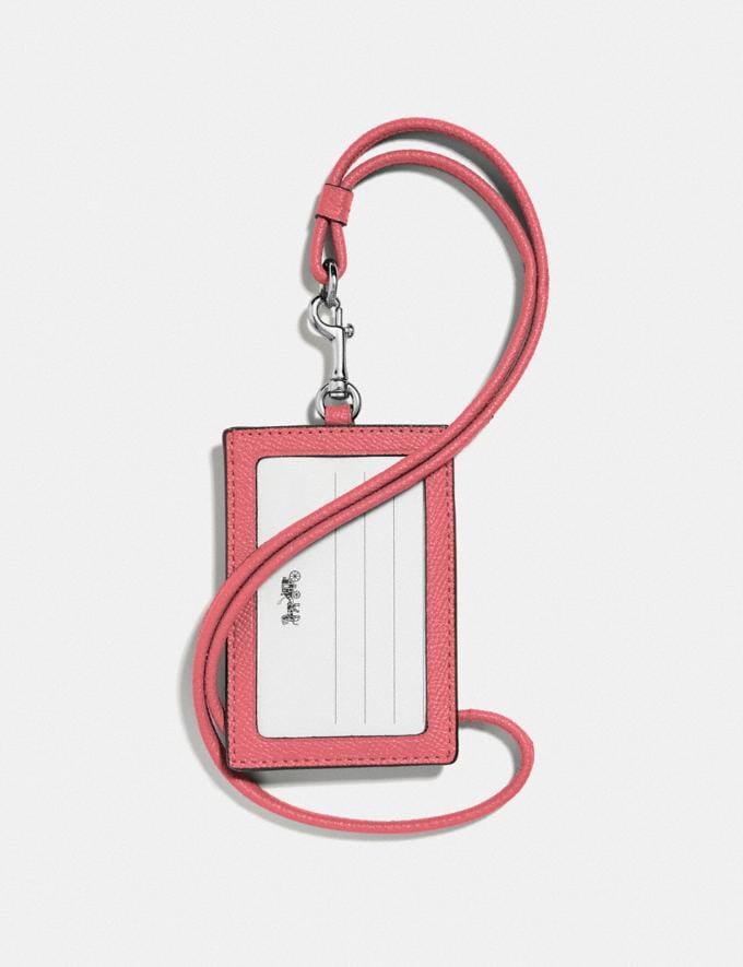 Coach Id Lanyard Bright Coral/Silver 30% off Select Full-Price Styles Alternate View 1