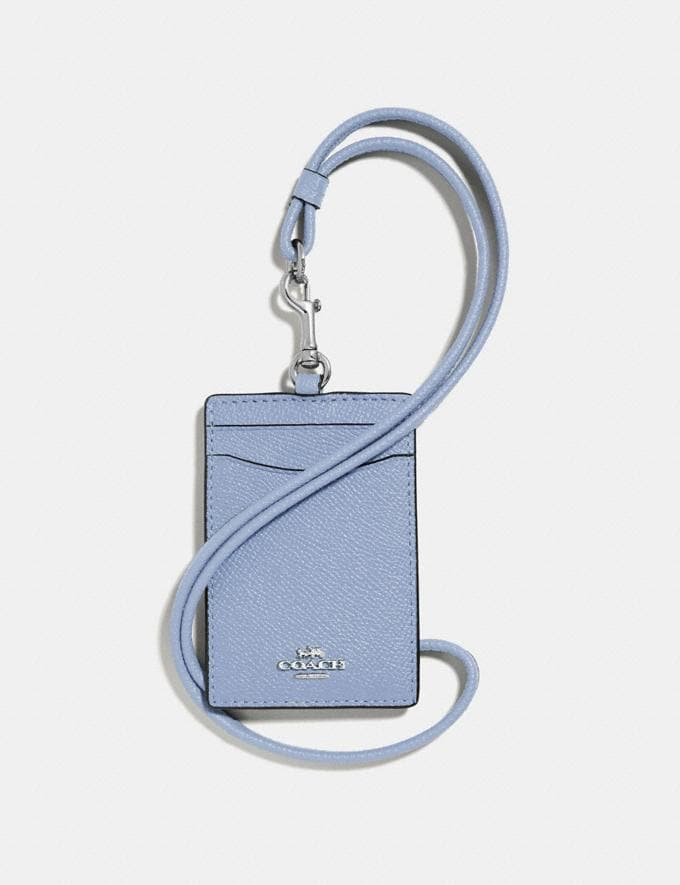 Coach Id Lanyard Silver/Mist Women Accessories