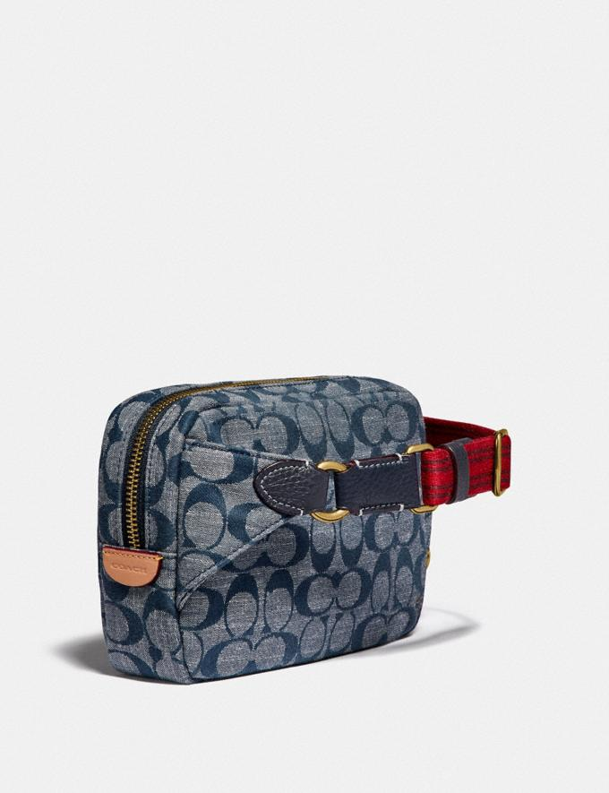 Coach Cargo Belt Bag in Signature Chambray B4/Chambray Women Bags Mini Bags Alternate View 1