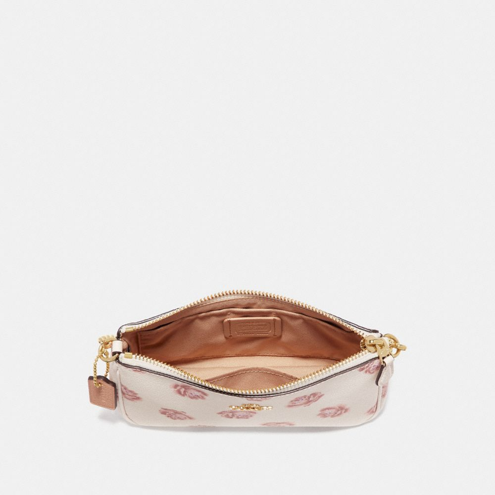 Coach Nolita Wristlet 19 With Rose Print Alternate View 1