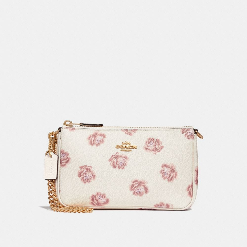 Coach Nolita Wristlet 19 With Rose Print