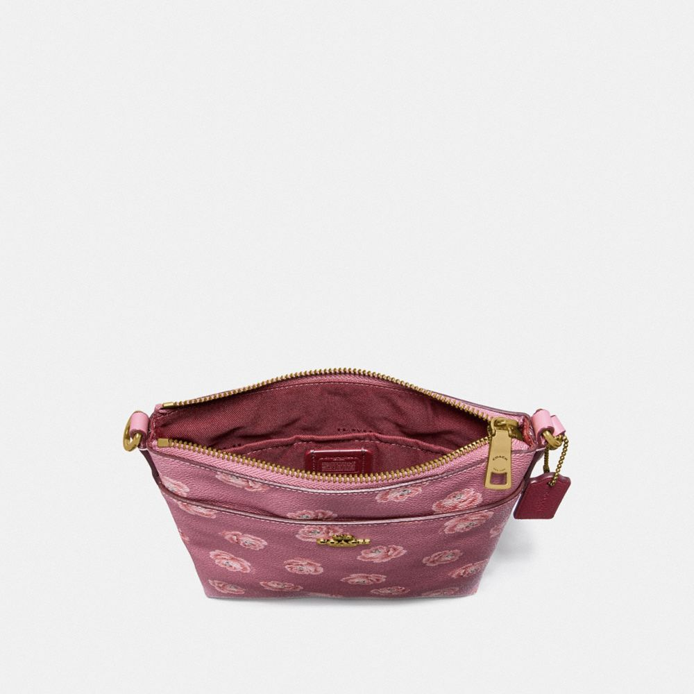 Coach Kitt Messenger Crossbody With Rose Print Alternate View 1