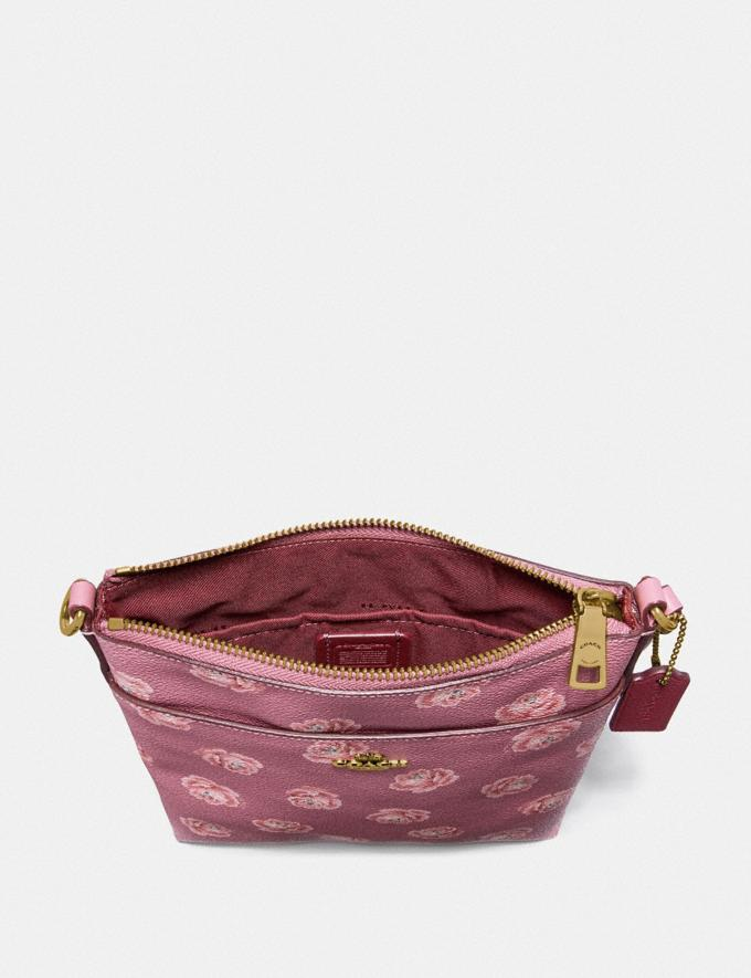 Coach Kitt Messenger Crossbody With Rose Print Chalk Rose Print/Light Gold New Featured Online Exclusives Alternate View 1