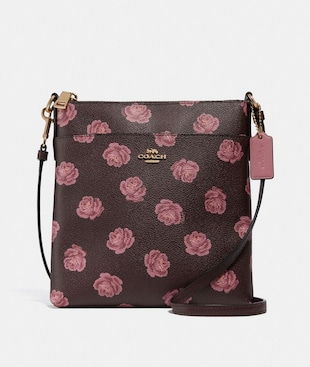 KITT MESSENGER CROSSBODY WITH ROSE PRINT