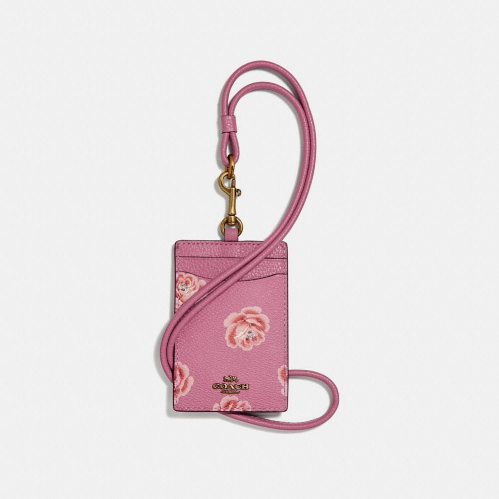 id lanyard with rose print