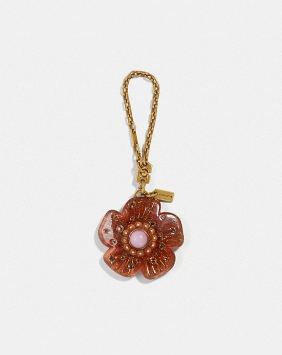 Coach TORTOISE TEA ROSE BAG CHARM