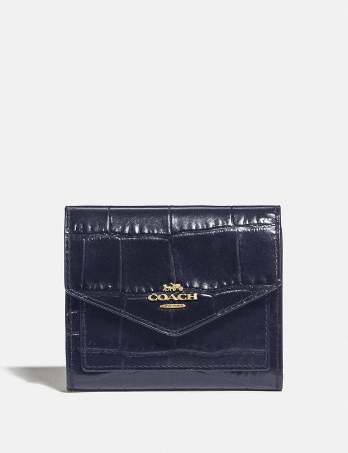 Coach Small Wallet Gold/Black Women Small Leather Goods Small Wallets