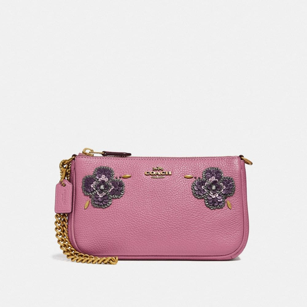 Coach Nolita Wristlet 19 With Leather Sequin Applique
