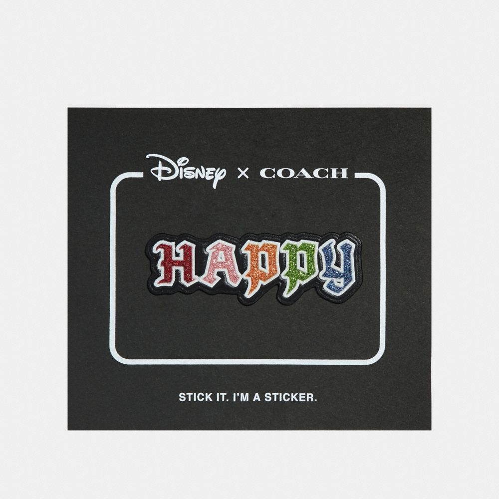 COACH DISNEY X HAPPY STICKER - WOMEN'S