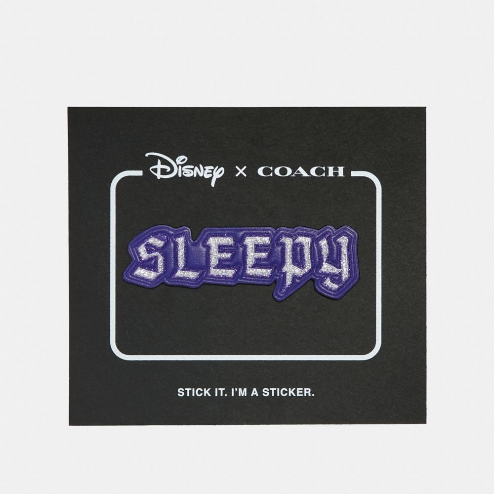 DARK DISNEY SLEEPY LEATHER STICKER