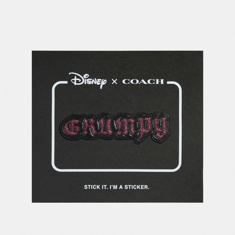 DISNEY X COACH GRUMPY STICKER