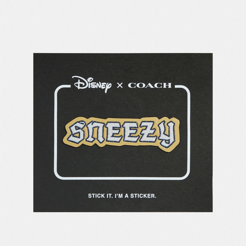 disney x coach sneezy sticker