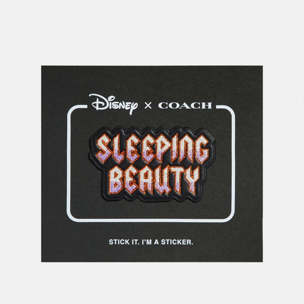 disney x coach sleeping beauty sticker