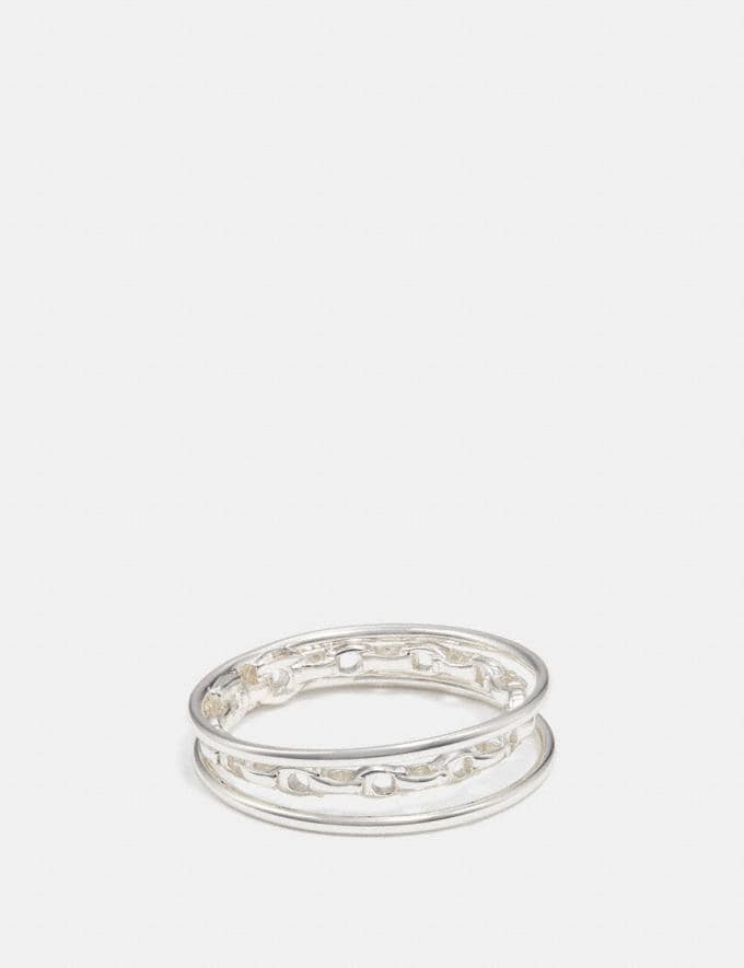 Coach Chain Ring Grey DEFAULT_CATEGORY