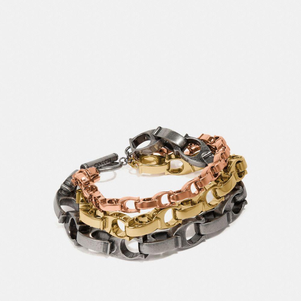 Coach Signature Chain Layered Bracelet