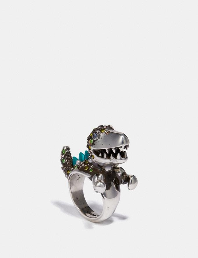 Coach Rexy Cocktail Ring Multi/Silver Women Accessories Jewellery Rings