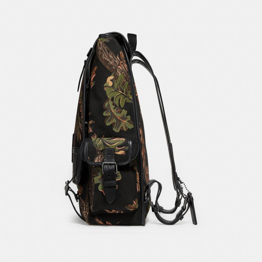 Coach Scout Backpack With Oak Leaf Print Alternate View 1