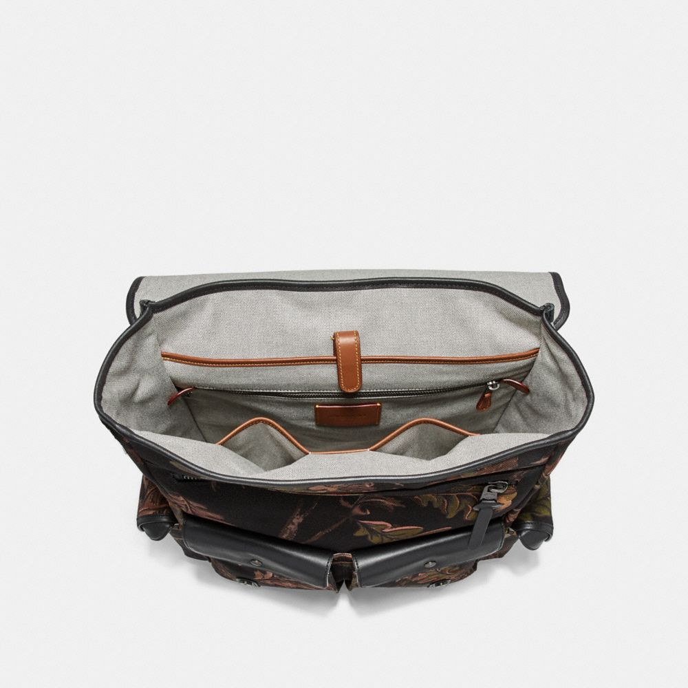 Coach Scout Backpack With Oak Leaf Print Alternate View 2