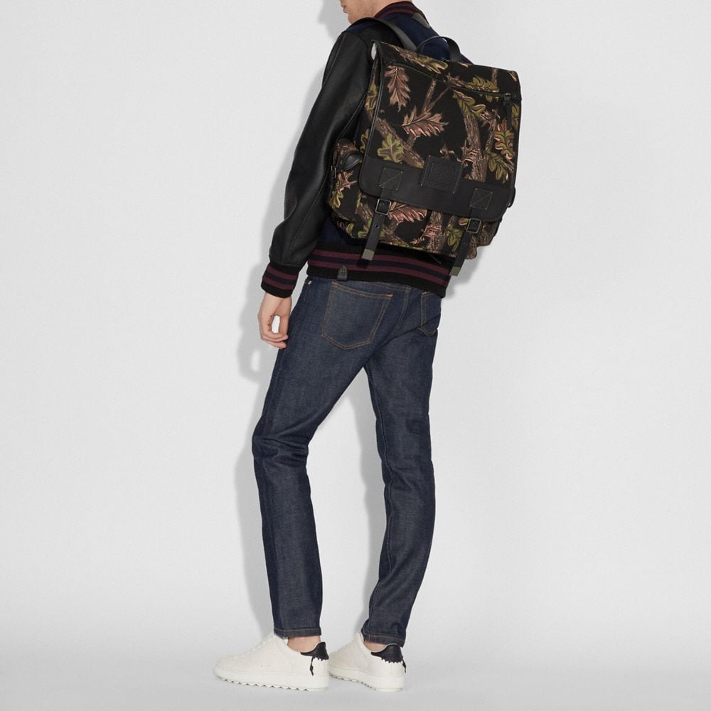 Coach Scout Backpack With Oak Leaf Print Alternate View 3